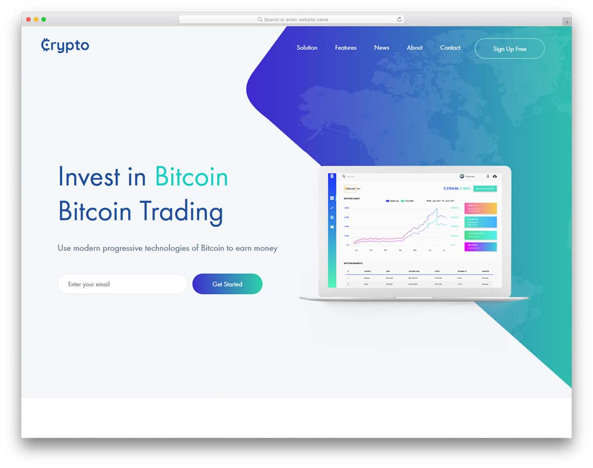 cryptocurrency-free-clean-website-templates