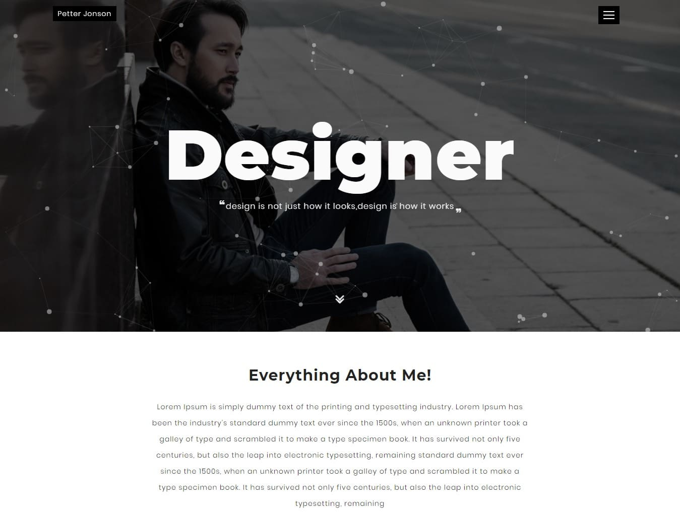 designer-bootstrap-personal-website-template