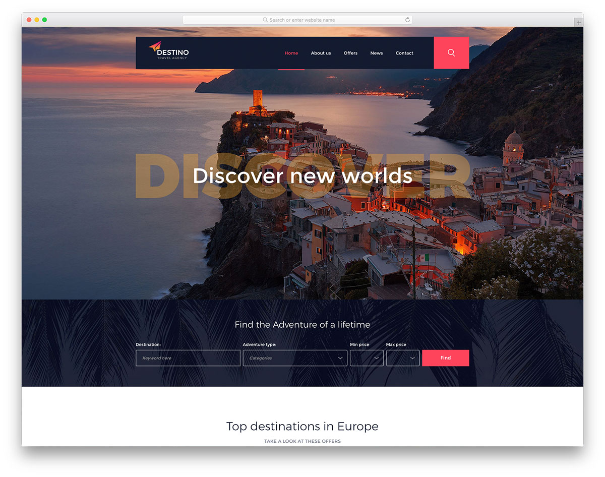 destino-free-travel-agency-website-templates