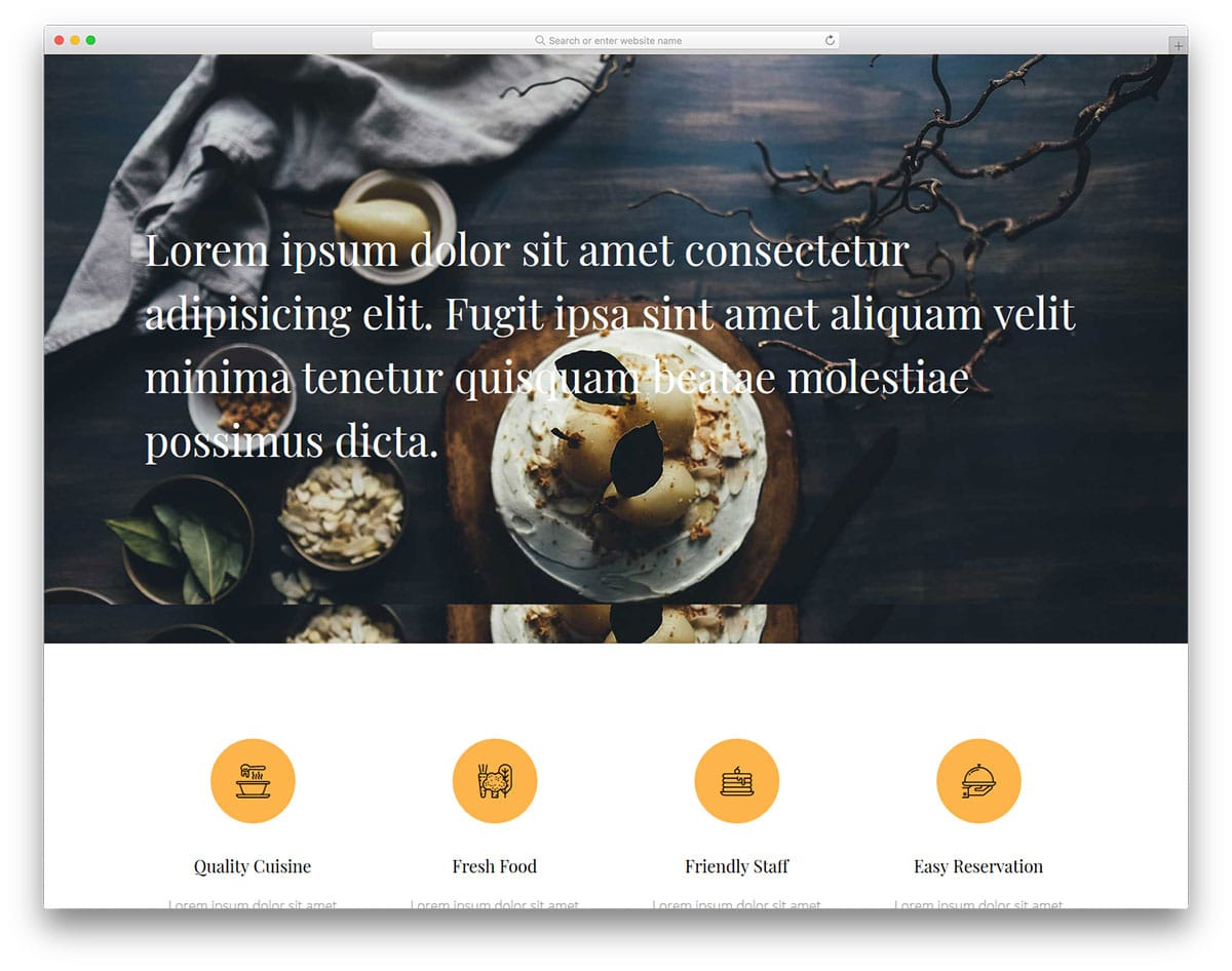 diner-free-clean-website-templates