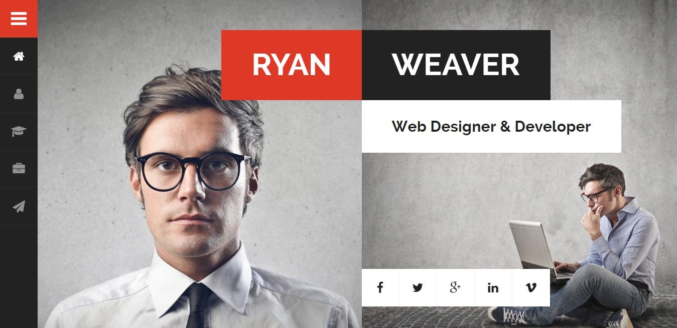 divergent-bootstrap-personal-website-template