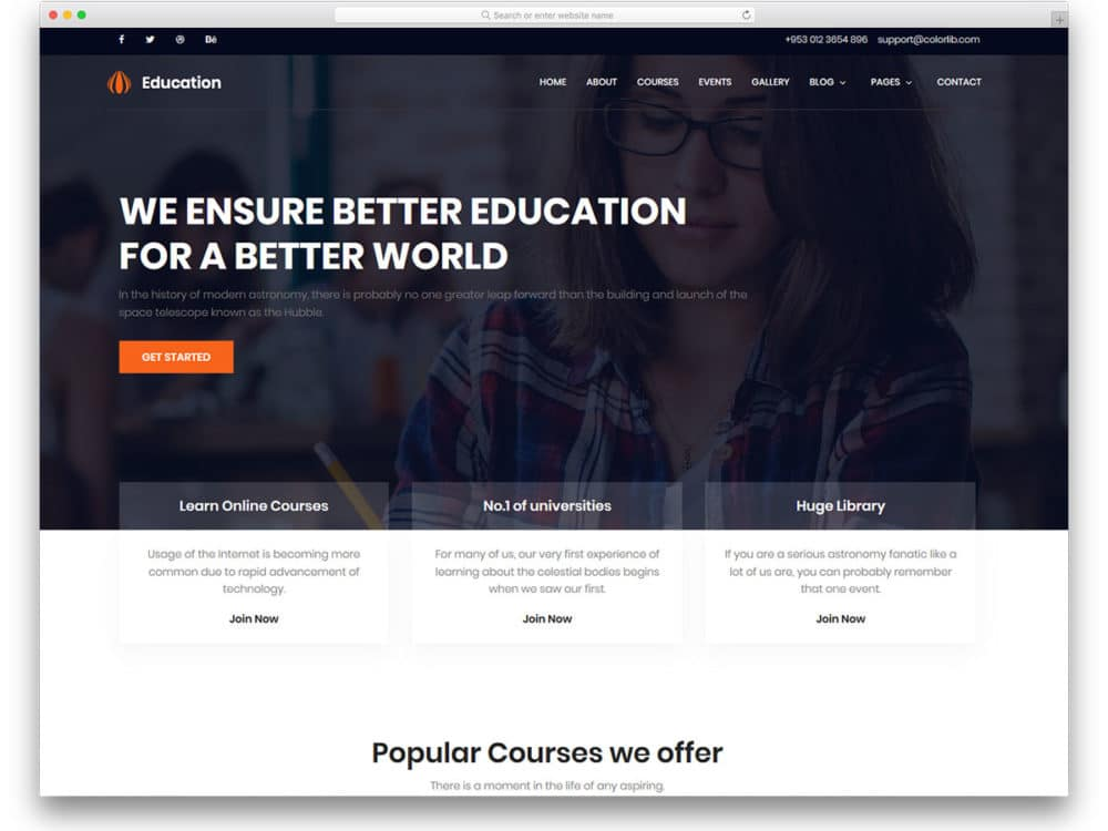 20 Free School Website Templates For Millennial Students