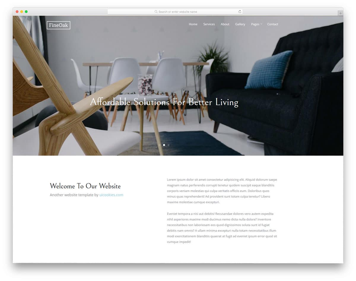 fineoak-free-home-builder-website-templates