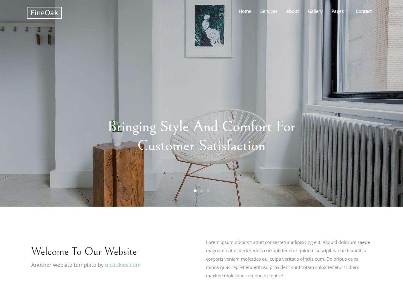 fineoak-shop-website-template