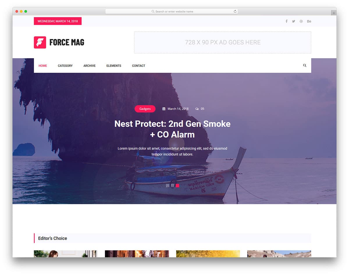 force-free-magazine-website-templates