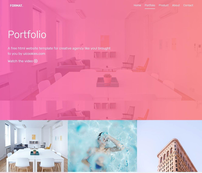 format-gallery-website-template