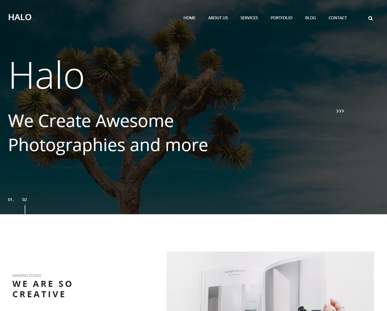 halo-gallery-website-template