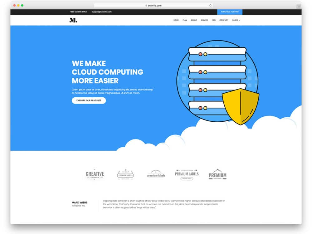 20 free hosting website templates to attract website owners 2018 hosting free hosting website templates maxwellsz