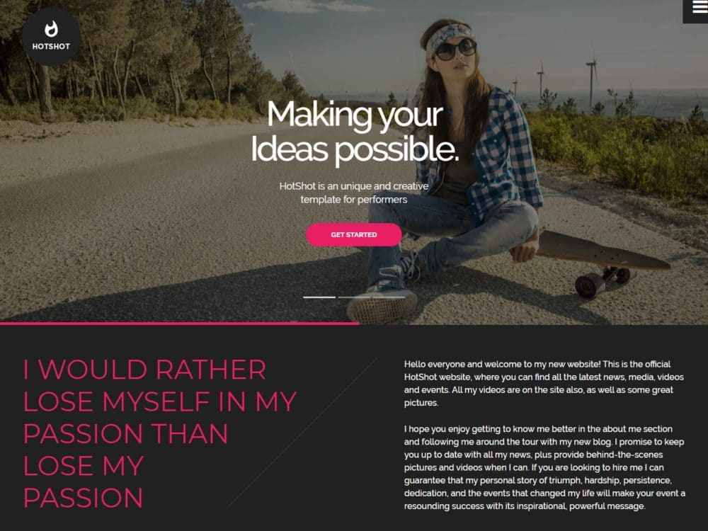 hotshot-bootstrap-personal-website-template