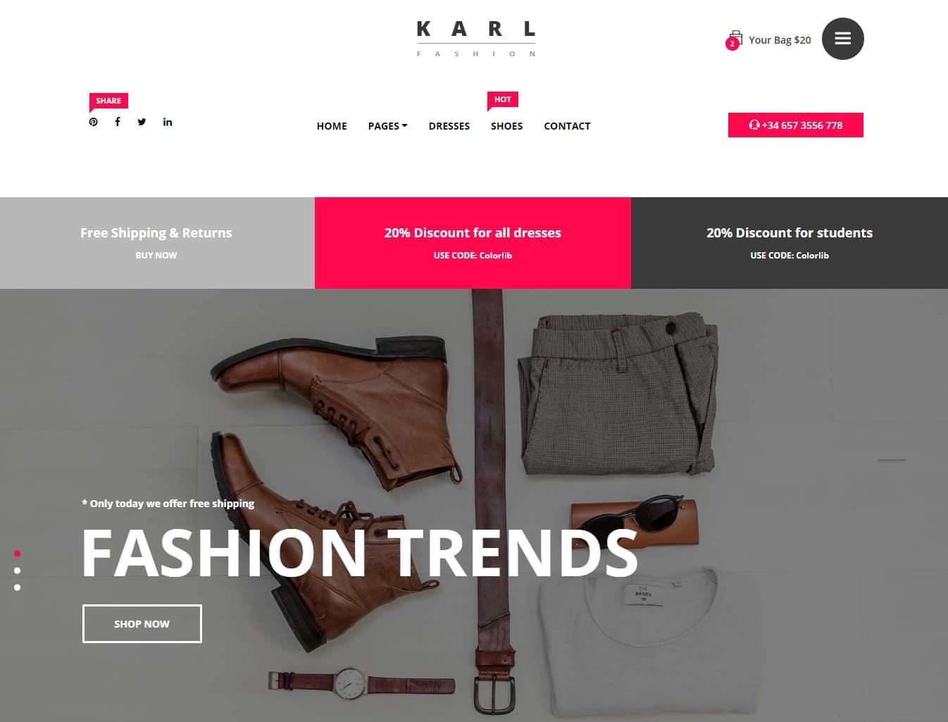 karl-shop-website-template