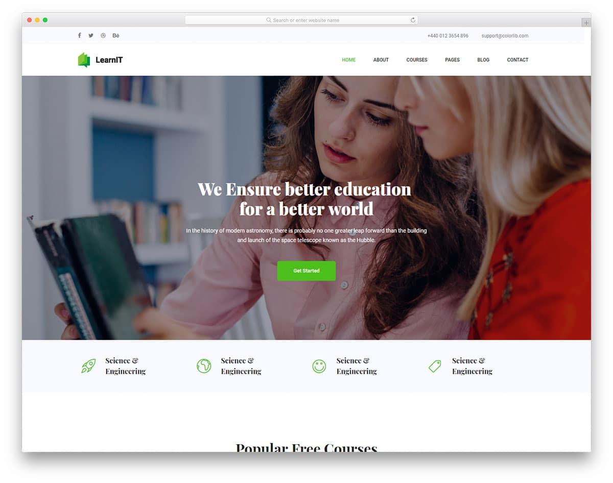 learnit-free-school-website-templates