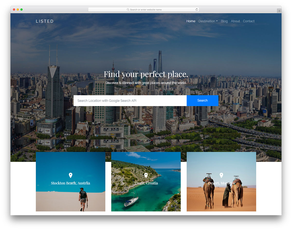 listed-free-travel-agency-website-templates