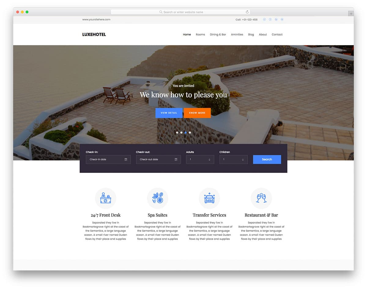 luxehotel-free-travel-agency-website-templates