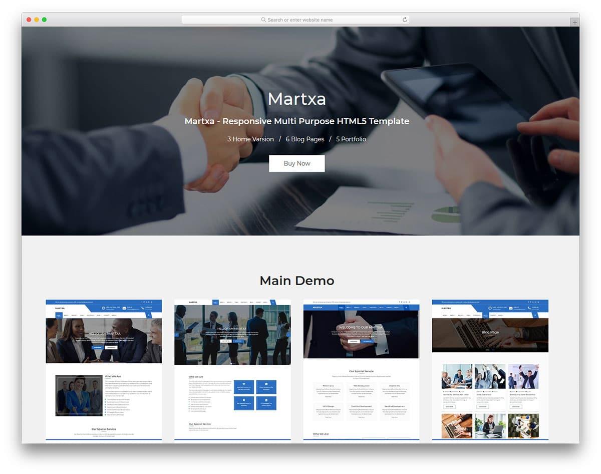 martxa-free-clean-website-templates