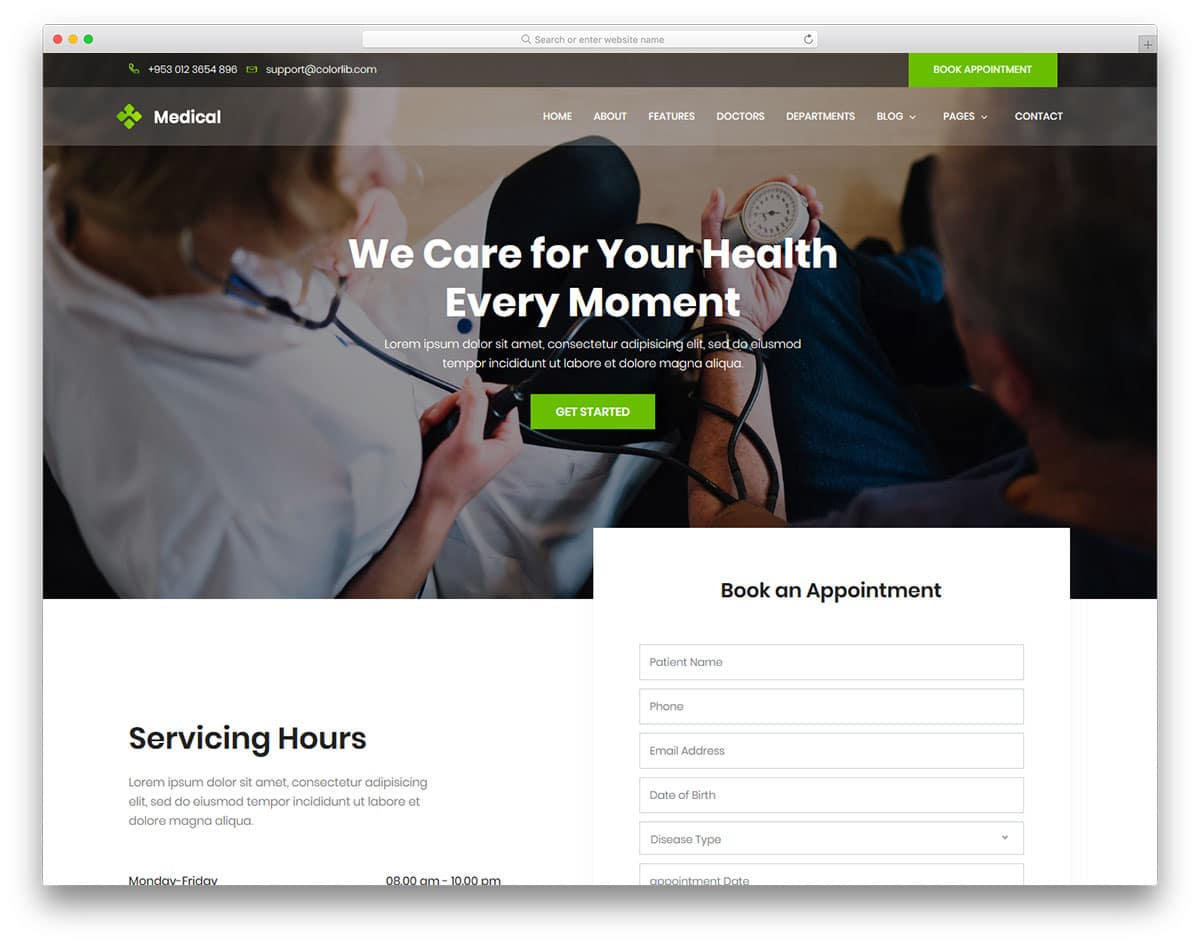 medical-free-web-design-templates