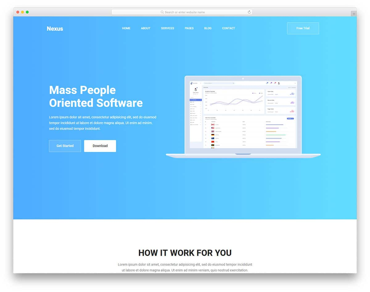 nexus-free-hosting-website-templates