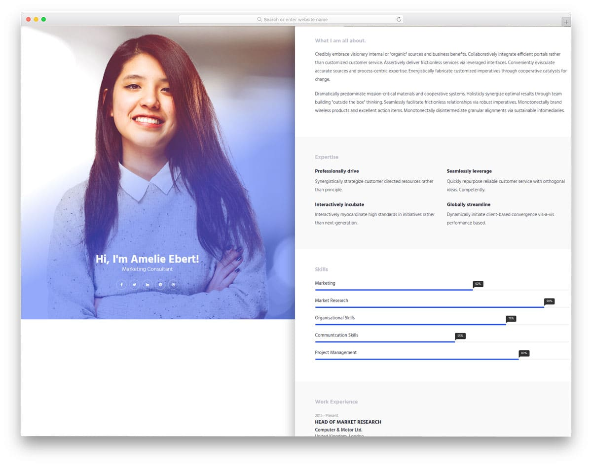 online-cv-free-bootstrap-personal-website-template
