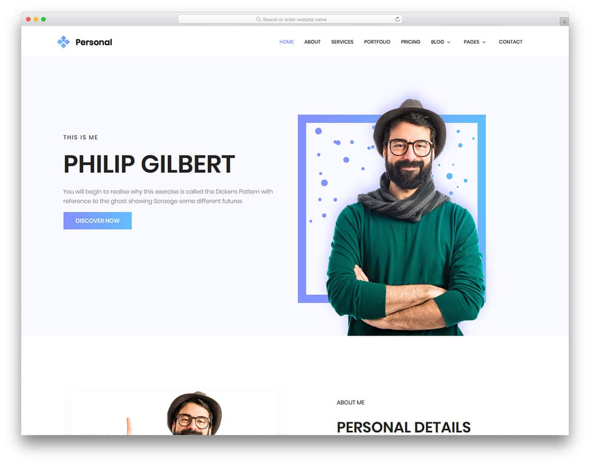personal-free-clean-website-templates