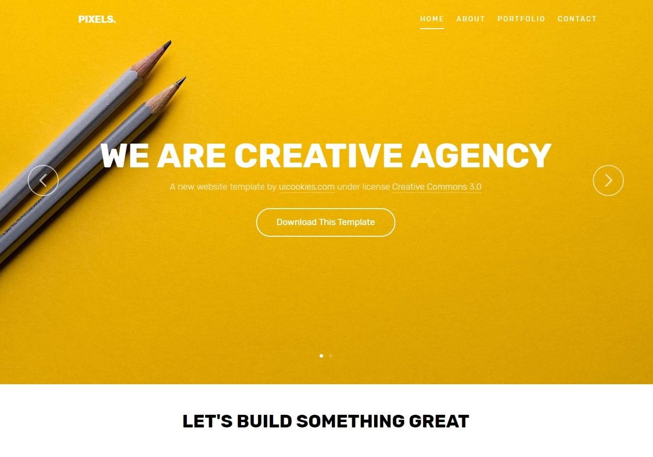 pixels-gallery-website-template