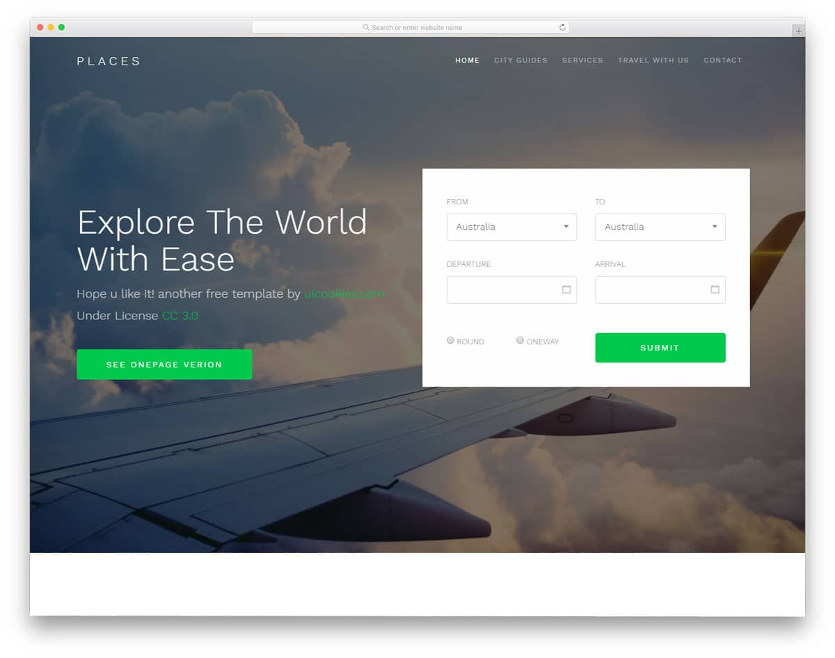 places-free-travel-agency-website-templates