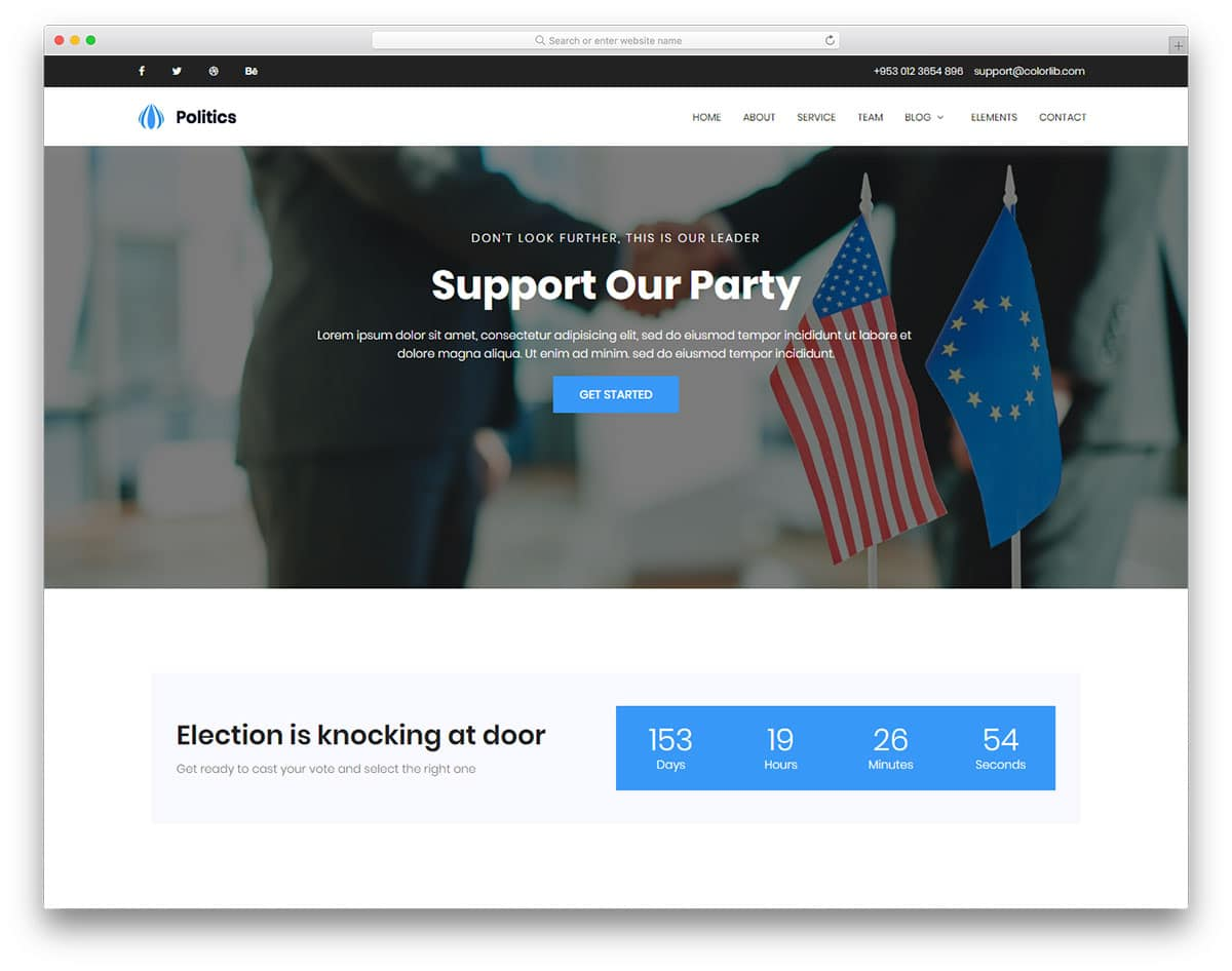 politics-free-web-design-templates
