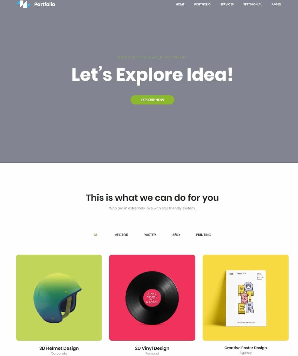 portfolio-gallery-website-template