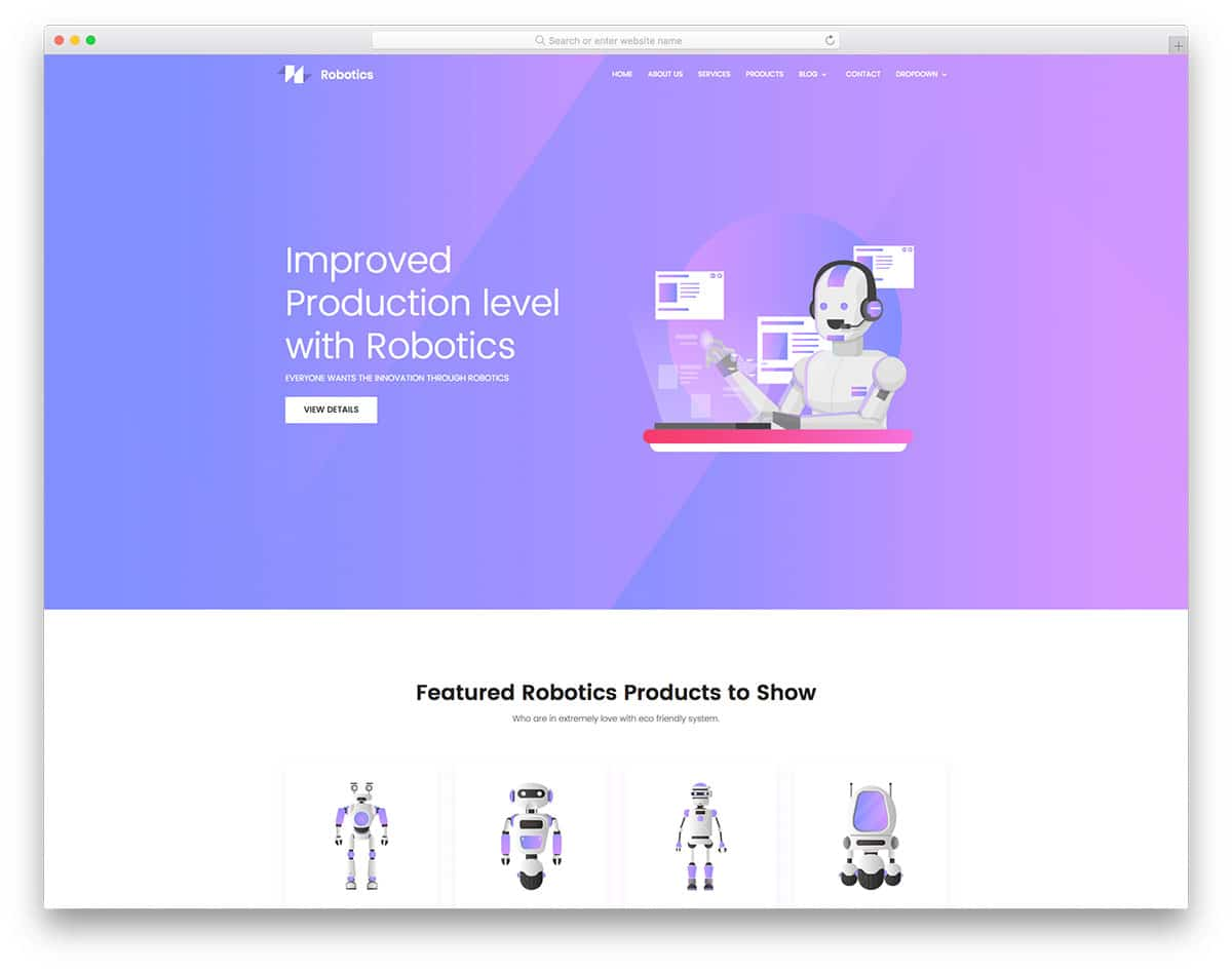 robotics-free-freelancer-website-templates