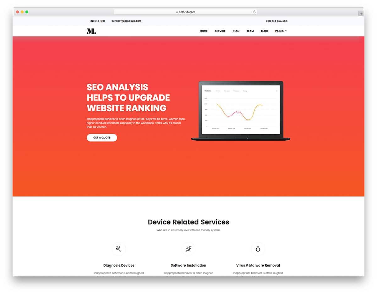 seo-free-hosting-website-templates