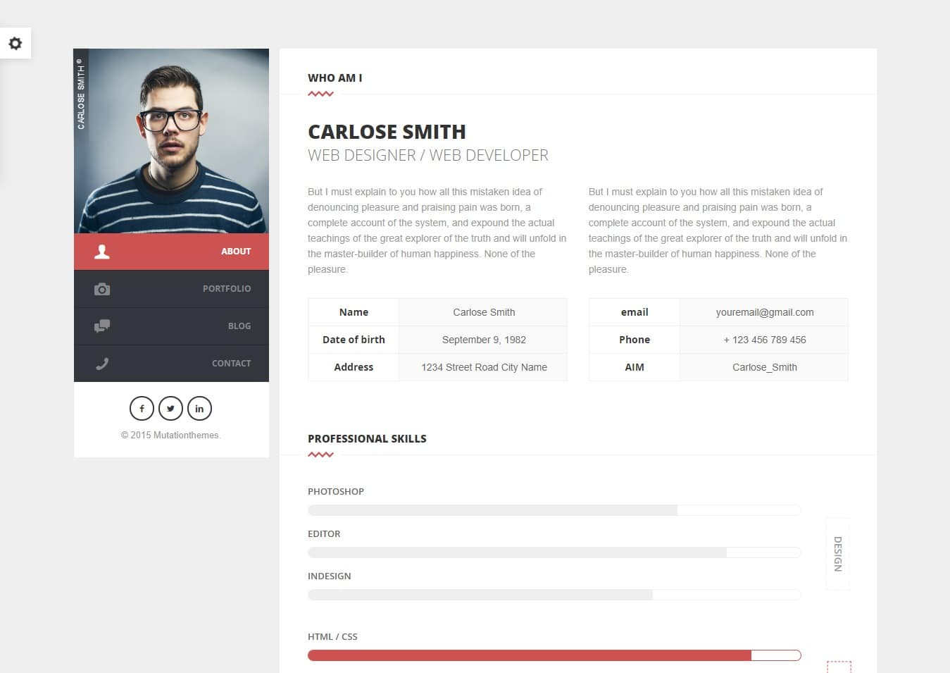 split-bootstrap-personal-website-template