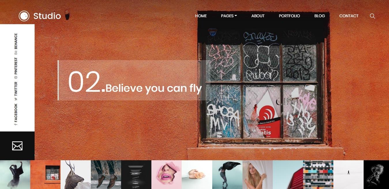 studio-gallery-website-template