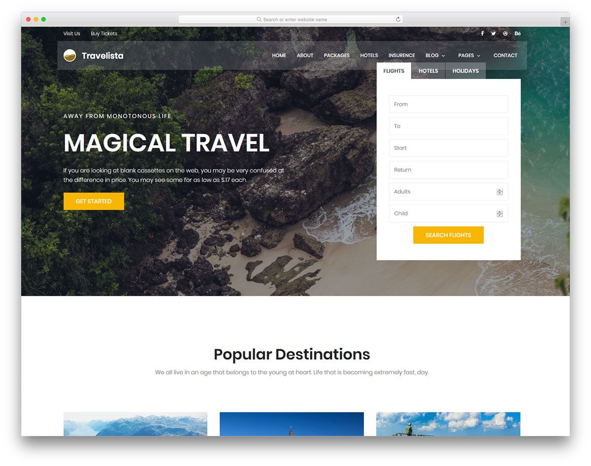 Travel Agency Website >> 32 Free Travel Agency Website Templates With Premium