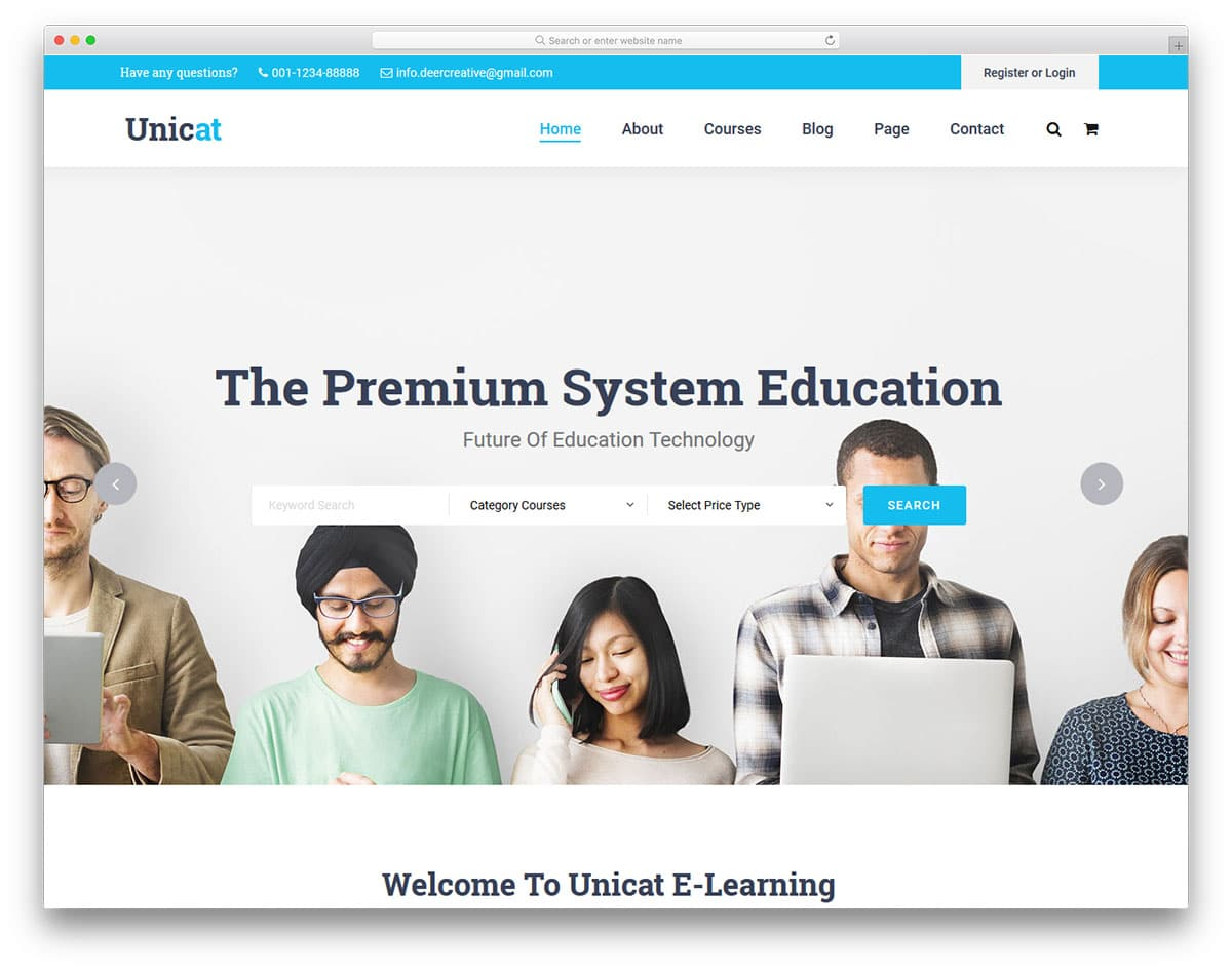 unicat-free-school-website-templates