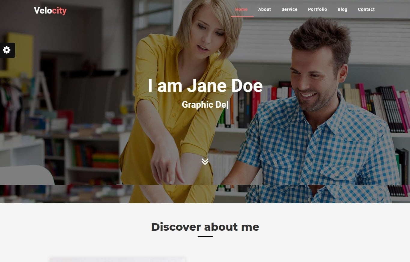 velocity-bootstrap-personal-website-template