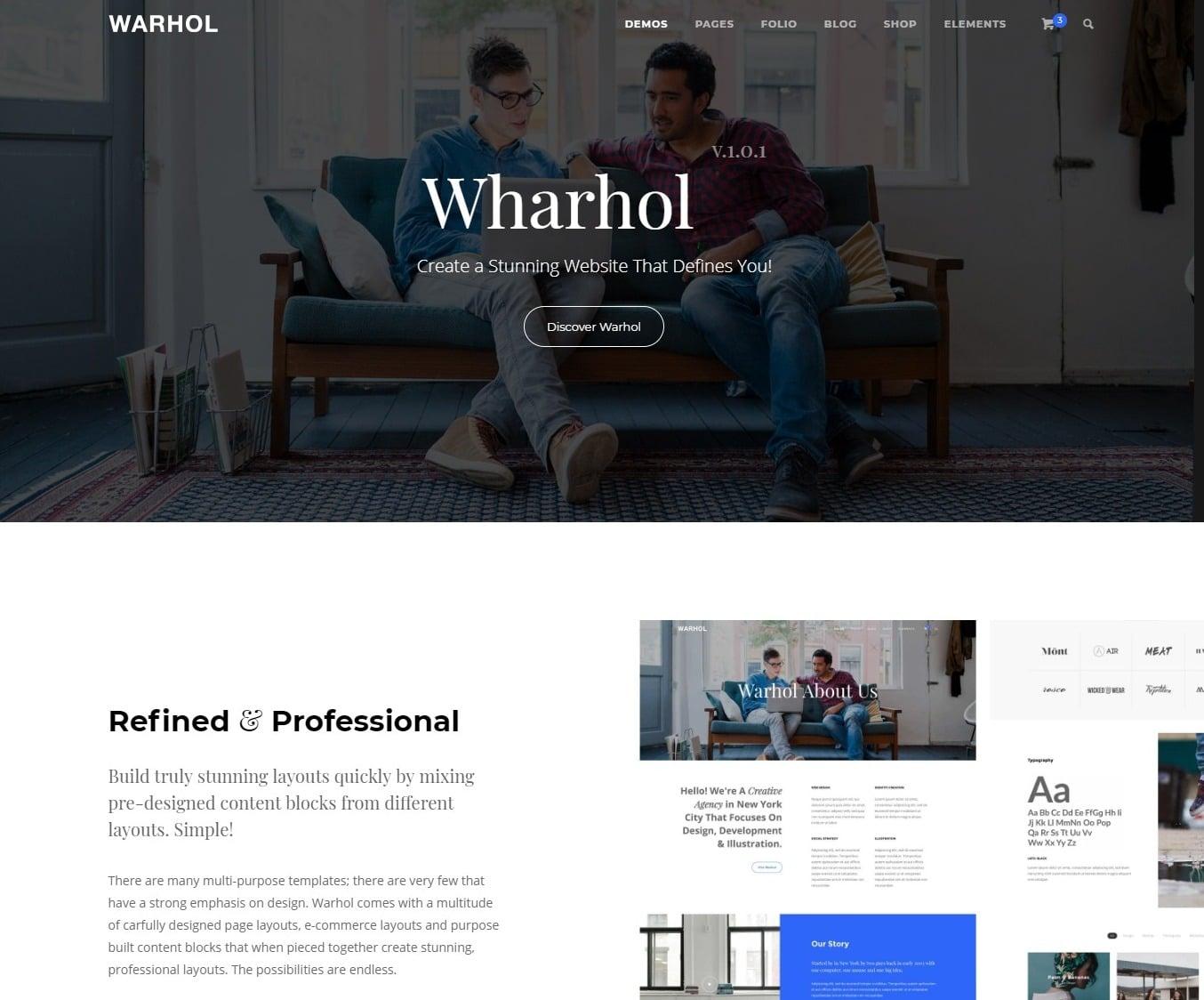 warhol-html-landing-page-templates-elementor-landing-page