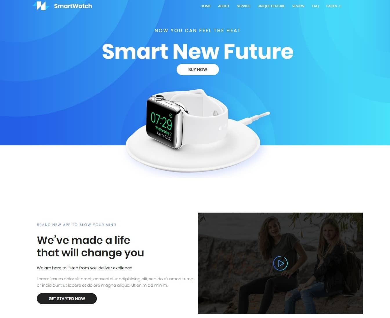 watch-shop-website-template