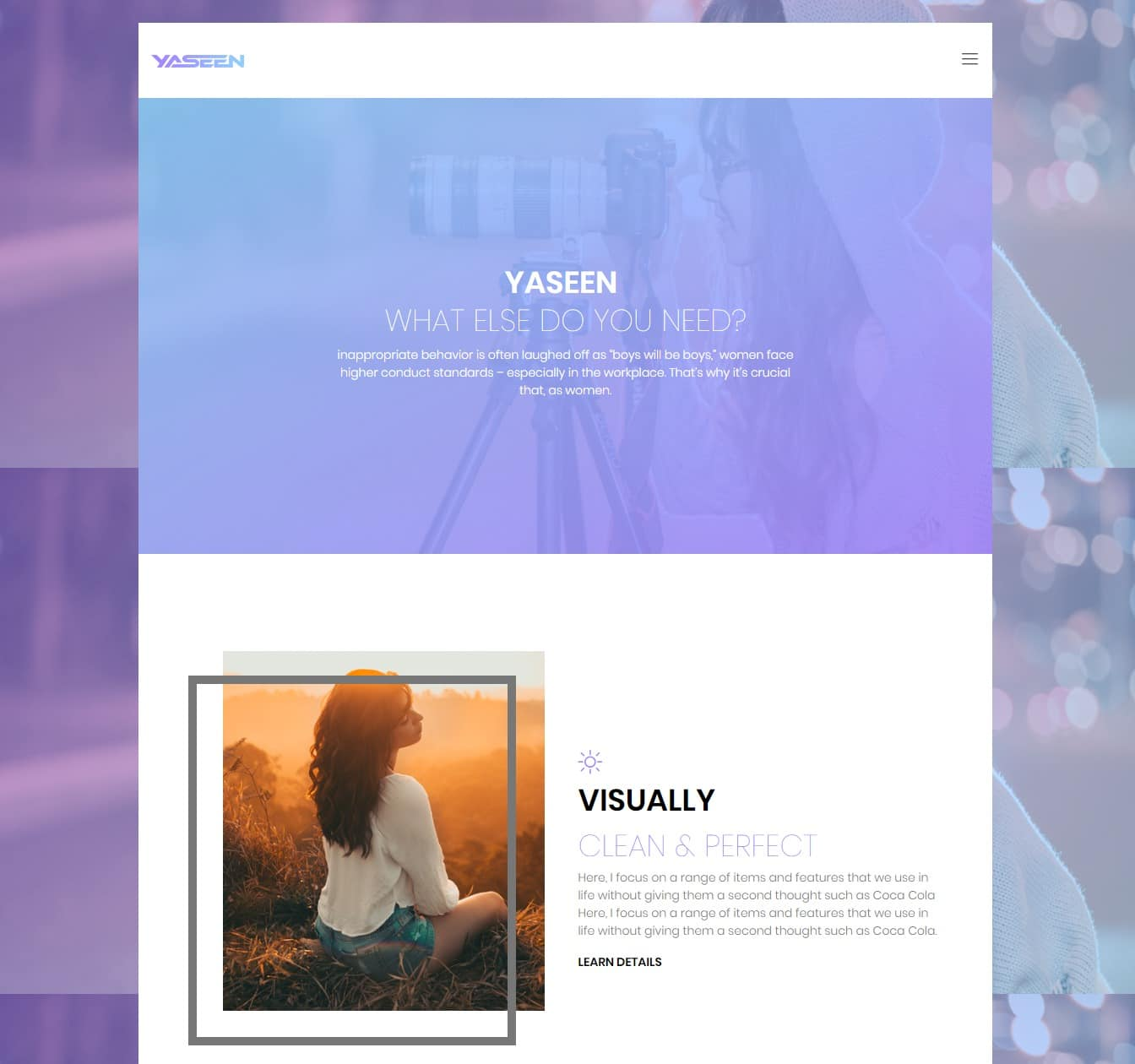 yaseen-gallery-website-template