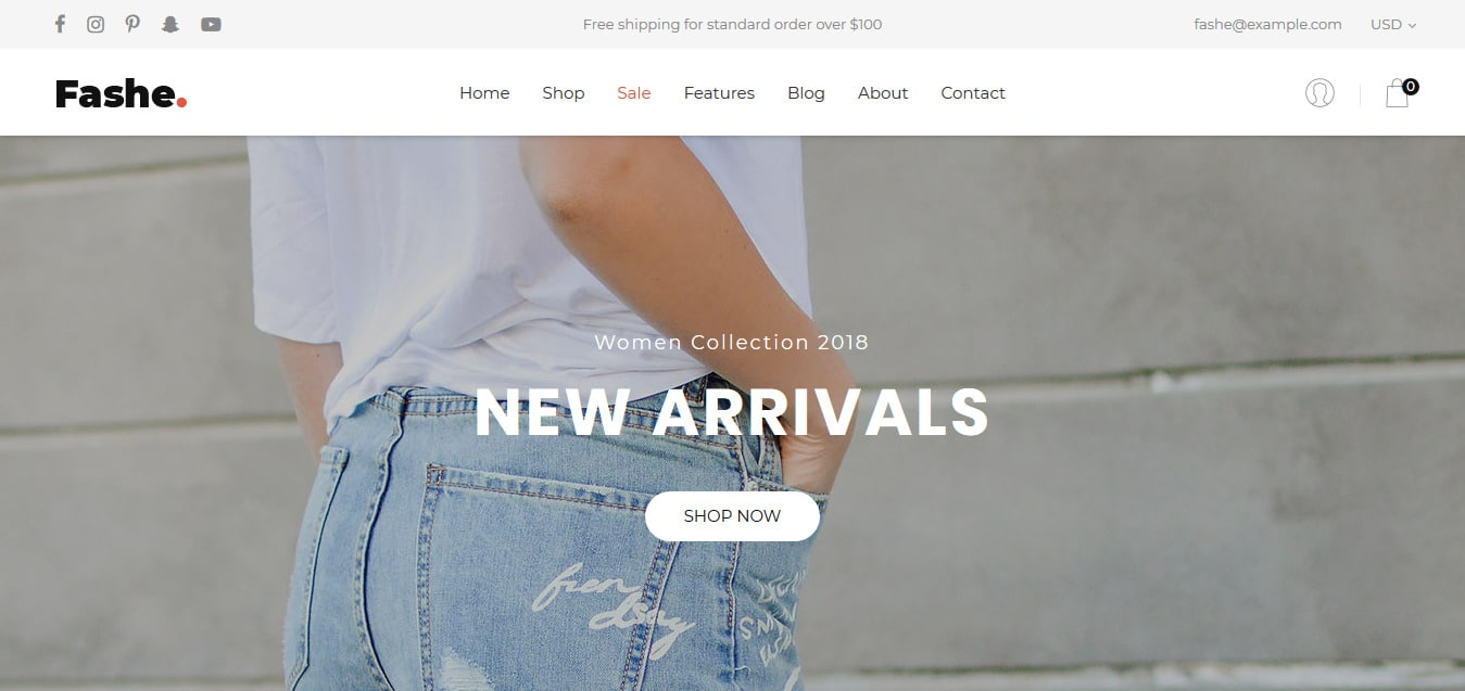 Fashe-free-bootstrap-ecommerce-website-template