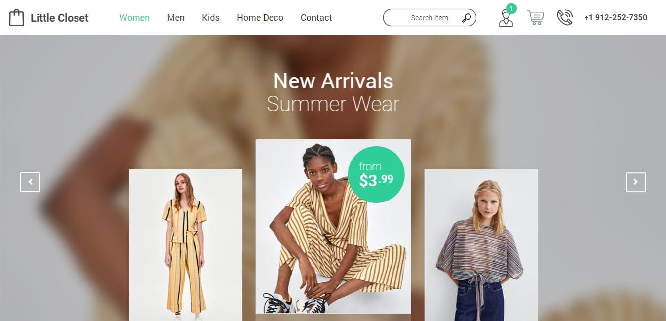 Little Closet shop website template