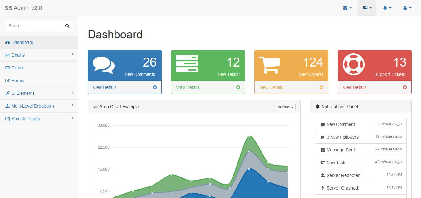 36 Free Bootstrap Admin Dashboard Template For A Powerful