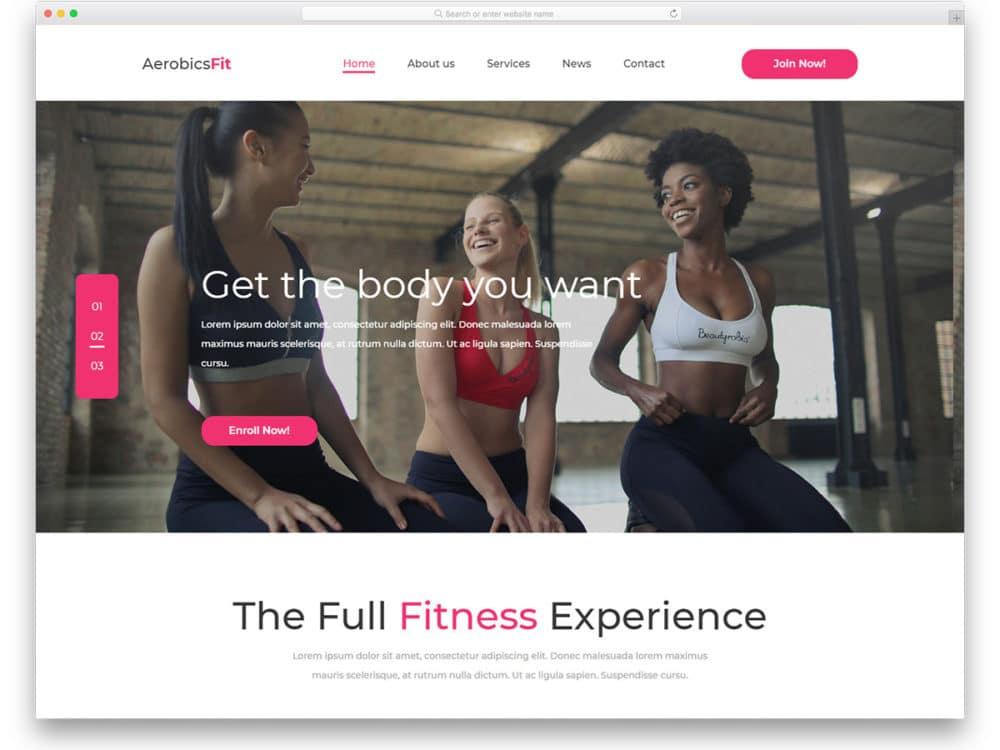 aerobicsFit-free-sports-website-templates