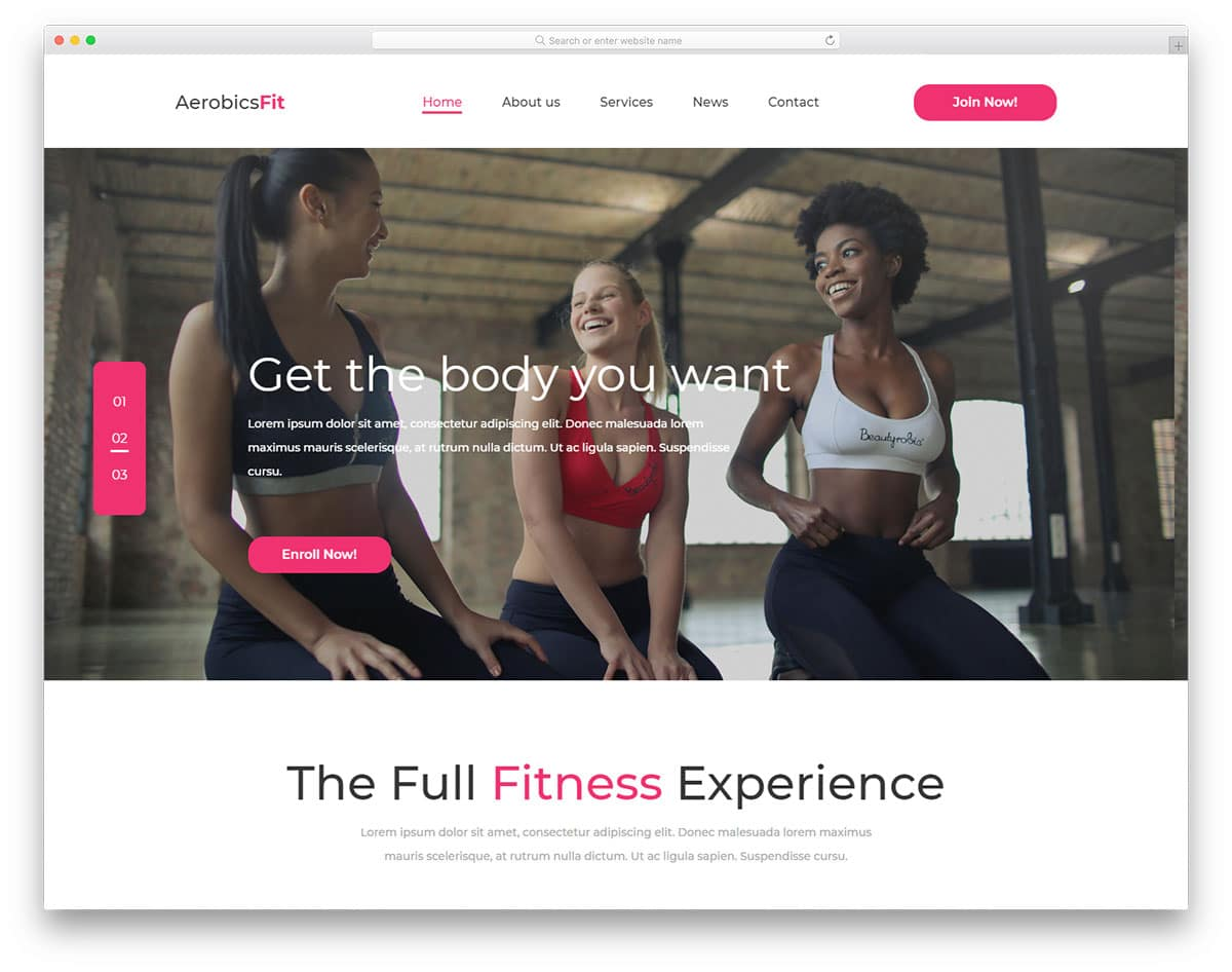 aerobicsFit-free-yoga-website-templates