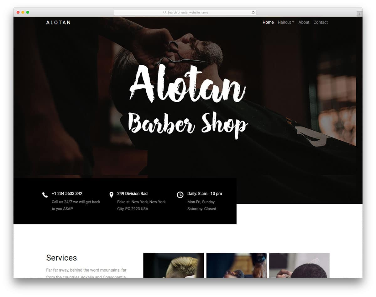 22 free hair salon website templates to properly groom your website