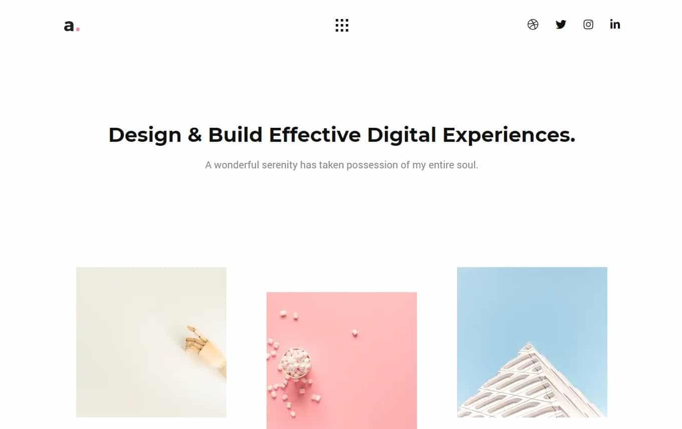 ariko-minimal-website-template