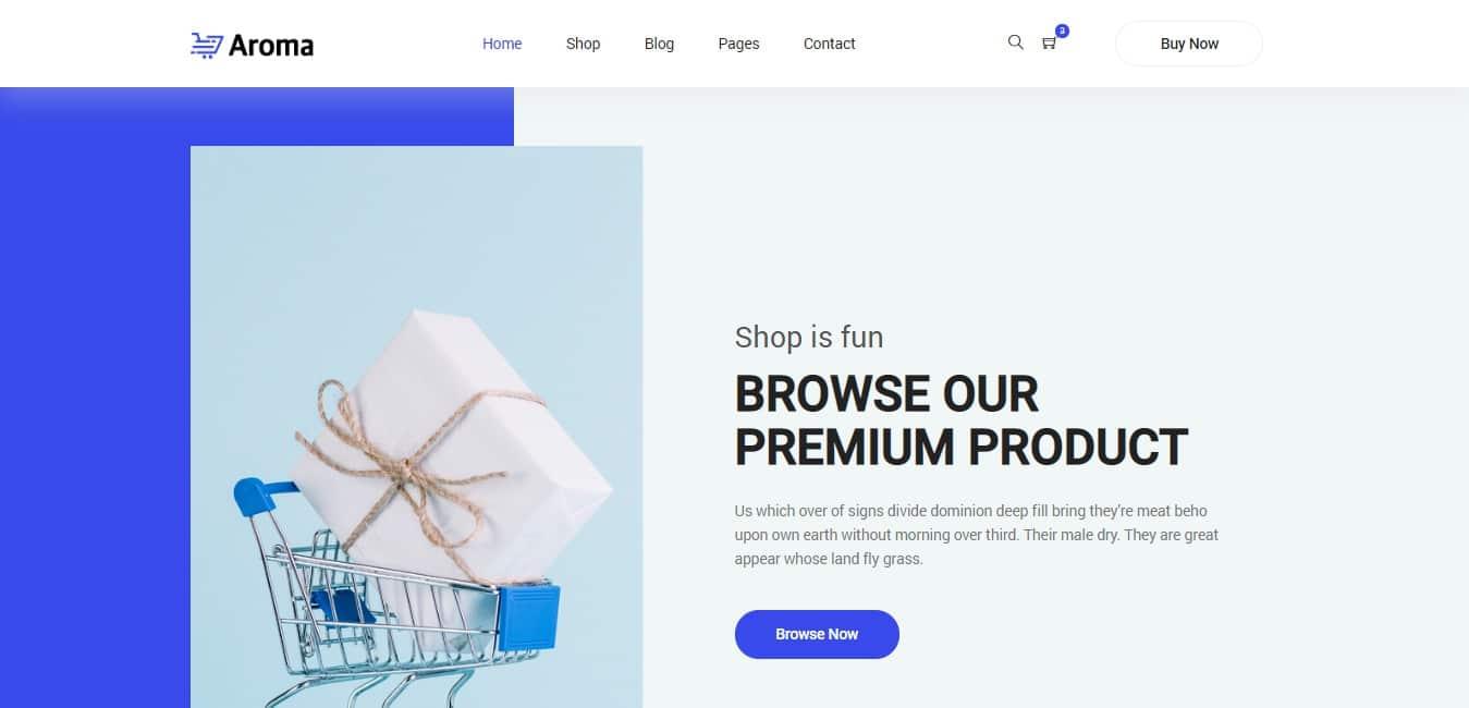 aroma shop website template