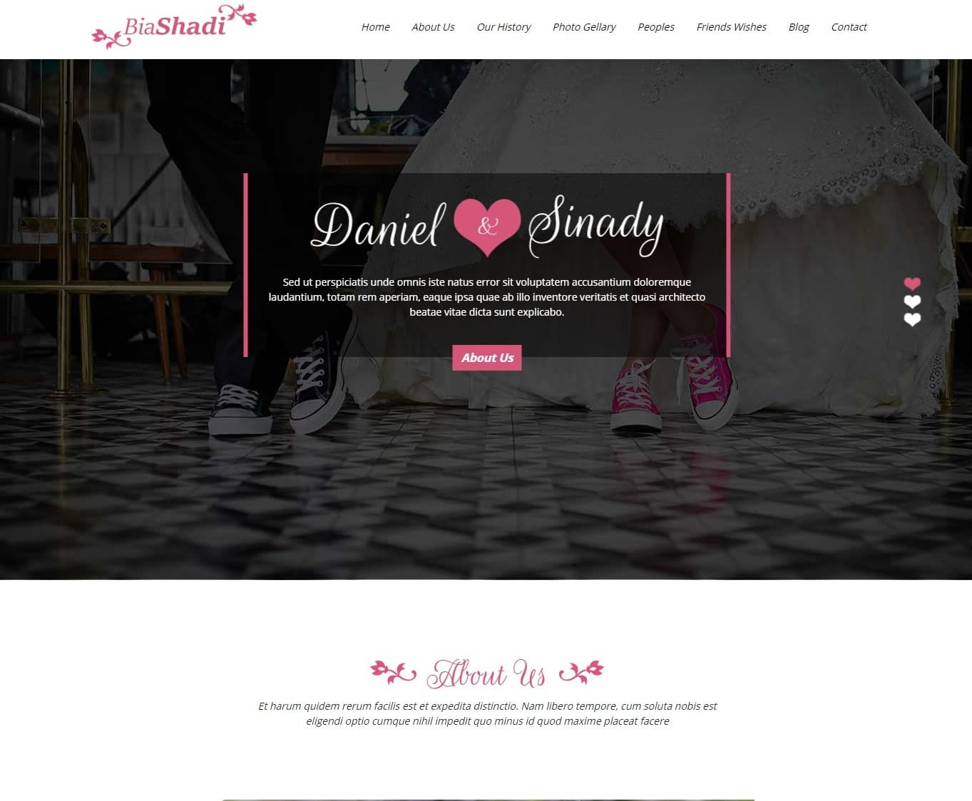 biashadi-free-wedding-website-template