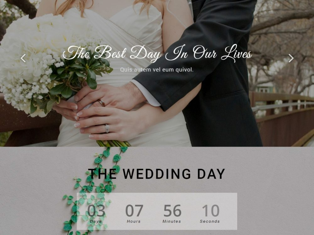 20 elegant free html bootstrap wedding websites for your special day