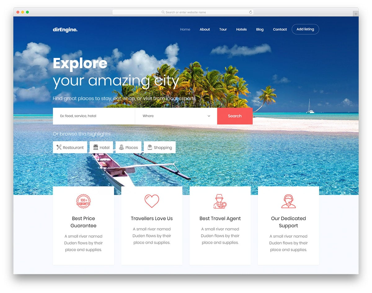 27 Free Travel Agency Website Templates With Premium Features 2019 74dfb77ba68