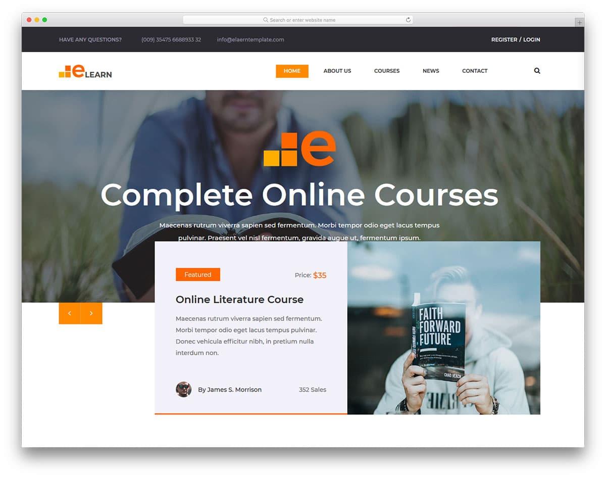 elearn-free-sports-website-templates