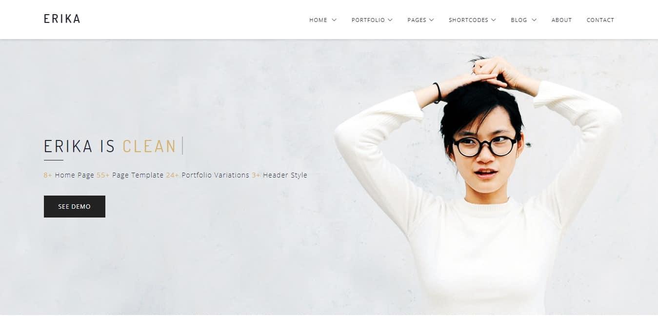 erika-minimal-website-template