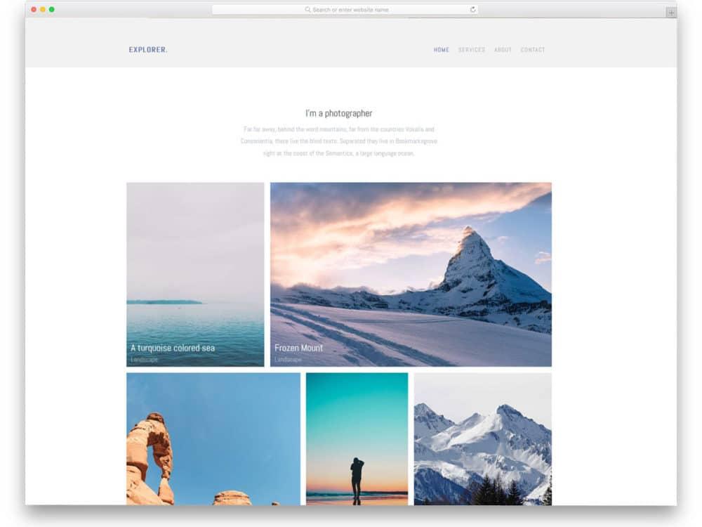 explorer-free-simple-css-templates